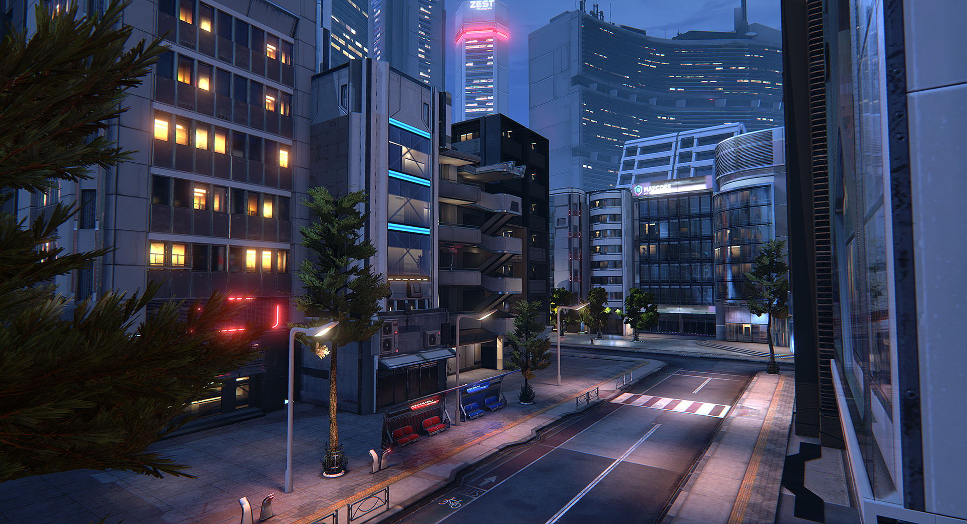Ue4 Sampa A Near Future Sci Fi City Polycount