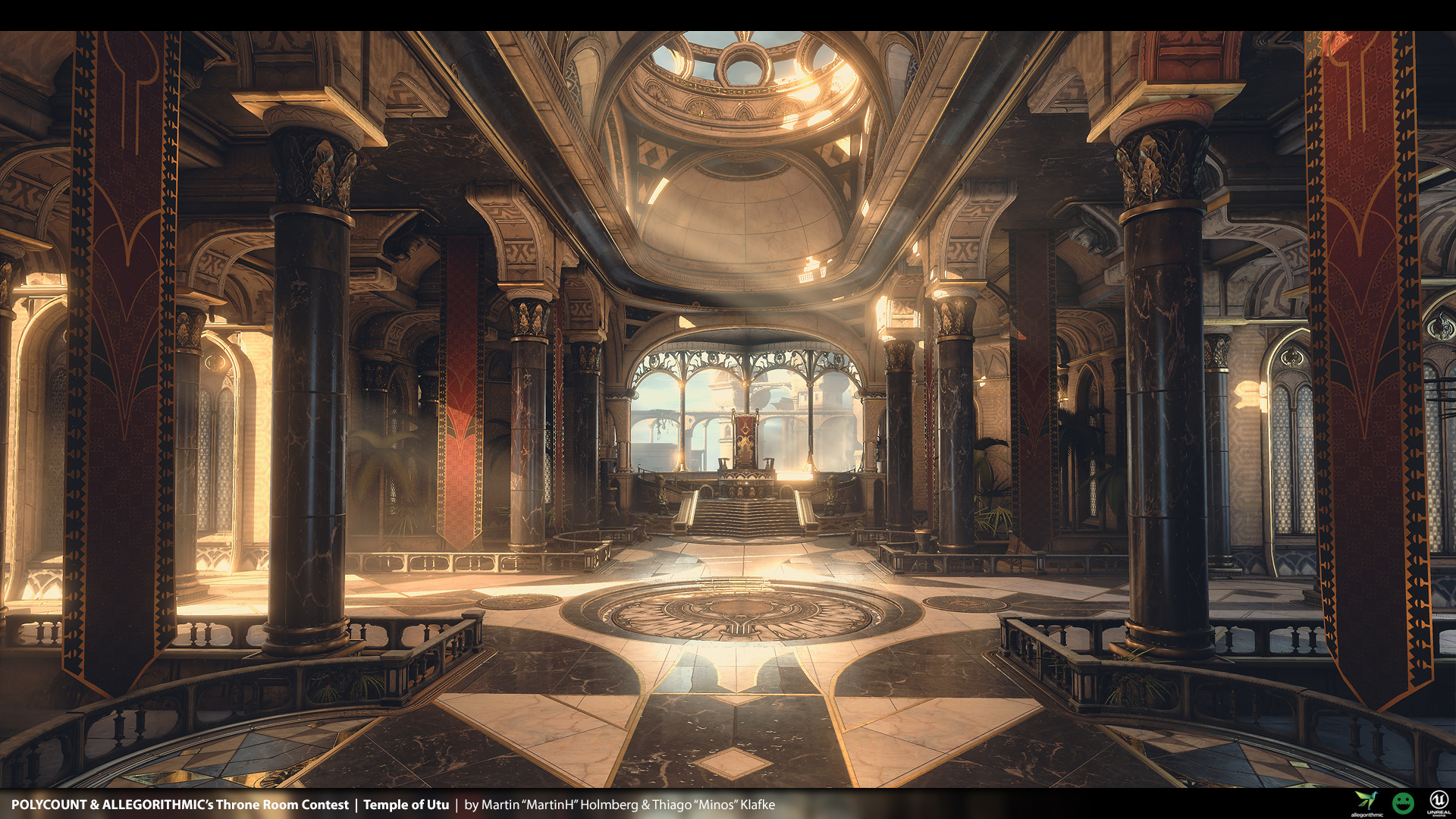 Temple of utu unreal engine 4 env for polycount 39 s throne for Image city interiors